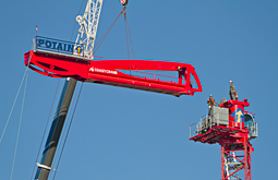 photography of Coast Crane building a crane near 6th and Yukon by Graham Collins